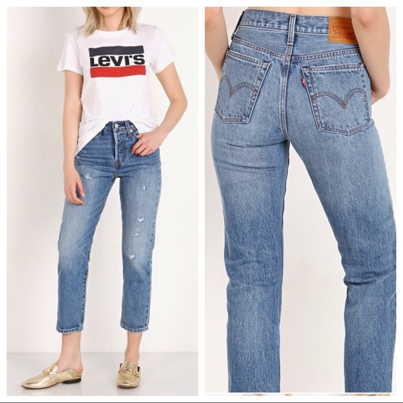 Levi's Denim - Levi's NWT wedgie straight distressed before dawn